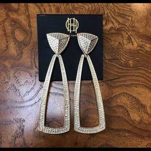 House of Harlow 1960 gold earrings